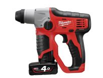 Milwaukee M12 H-402C 12V Li-Ion accu SDS-plus boorhamer set (2x 4.0Ah accu) in koffer – 0,9J - 4933441164
