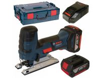 Bosch GST 18 V-LI S 18V Li-Ion Accu decoupeerzaag set (2x 4.0Ah accu) in L-Boxx - T-greep - variabel - 06015A5102