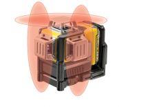 DeWalt DCE089D1R 10,8V Li-Ion accu zelfnivellerende kruislijnlaser set (1x 2.0Ah accu) in koffer - 3 lijnen - 15m - DCE089D1R-QW