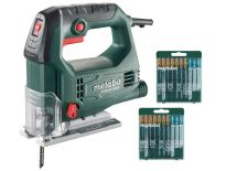 Metabo STEB 65 Quick SET Decoupeerzaag + 20 decoupeerzaagbladen in koffer - 450W - D-greep - 690920000