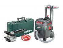 Metabo 690881000 Renovatieslijper + diamant komschijf beton in koffer (RS 14-125) & Bouwstofzuiger (ASR 35 L ACP) combiset