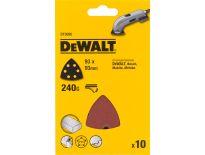 DeWalt DT3095 deltaschuurpapier - K240 - 93x93mm (10st) - DT3095-QZ