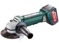 Metabo WP 18 LTX 125 QUICK 18V Li-Ion Accu haakse slijper set (2x 5.2Ah accu) in koffer - 125mm - softstart - dodemansschakelaar - 613072500