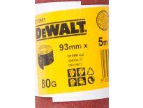 DeWalt DT3591 Schuurpapier rol - P80 - 5m - 93mm - DT3591-QZ
