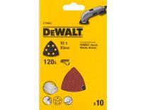 DeWalt DT3093-QZ deltaschuurpapier - K120 - 93mm (10st) - DT3093-QZ