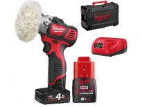 Milwaukee M12 BPS-421X 12V Li-Ion accu polijster set (1x 4.0Ah, 1x 2.0Ah accu) in HD BOX - 4933447799