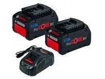 Bosch 1600A013H4 / Starterset: 2 x ProCORE18V 7.0Ah + GAL 1880 CV Li-ion accu - Coolpack