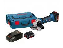 Bosch GWS 18-125 V-LI 18V Li-Ion Accu haakse slijper set (2x 4.0Ah accu) in L-Boxx - 125mm - 060193A30B