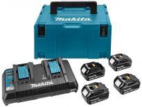 Makita 197156-9 starterset 18V Li-Ion 4x 4,0Ah + duolader in Mbox - BL1840 - DC18RD
