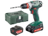 Metabo BS 18 Quick 18V boor-/schroefmachine set (1x 4.0Ah & 1x 2.0Ah accu) in Metaloc - 602217700