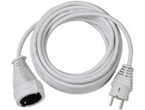 Brennenstuhl 1168440 Kwaliteits kunststof verlengsnoer wit - H05VV-F 3G1,5 - 5m