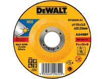 DeWalt DT42245 Doorslijpschijf verzonken centrum voor inox - 115x3mm (25st) - DT42245-XJ