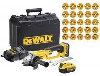 DeWalt DCG412M2SET 18V Li-Ion Accu haakse slijper set (2x 4.0Ah accu) in koffer - 125mm