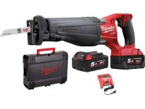 Milwaukee M18 CSX-502X 18V Li-Ion accu reciprozaag set (2x 5.0Ah accu) in HD-Box - snelwissel - koolborstelloos - 4933451378