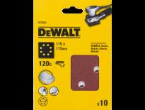 DeWalt DT3023 Schuurpapier - P120 - 115x115mm (10st) - DT3023-QZ