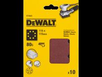 Dewalt DT3022 Schuurvel - P80 - 115x115mm (10st) - DT3022-QZ
