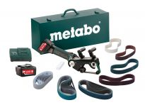 Metabo RB 18 LTX 60 SET 18V Li-Ion accu buizenslijpmachine + accessoire set (2x 5,2Ah accu) in koffer