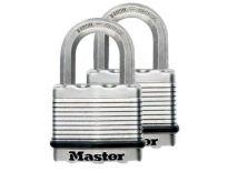 Masterlock M5EURT gelamineerd hangslot - 50 x 9 mm (2st)
