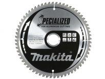 Makita B-09662 Specialized Cirkelzaagblad - 260 x 30 x 100T - Aluminium