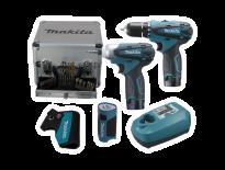 Makita LCT303X 10.8V Li-Ion accu combi set (2x 1.3Ah accu) in koffer incl. accessoires LCT303