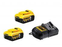 DeWalt DCB105P2 Starterset 18V 2x 5.0Ah accu + oplader - DCB184 - DCB105 - DCB105P2-QW