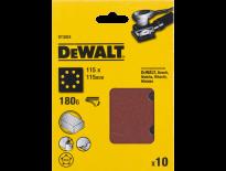 DeWalt DT3024 Schuurpapier - P180 - 115x115mm (10st) - DT3024-QZ
