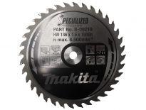 Makita B-09210 Specialized Cirkelzaagblad - 136 x 10 x 36T - Hout