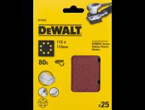 DeWalt DT3032 Schuurpapier - P80 - 115x115mm (25st) - DT3032-QZ