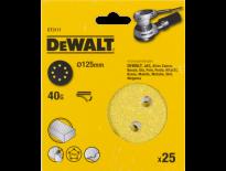 DeWalt DT3111 Schuurschijf - K40 - 125mm (25st) - DT3111-QZ