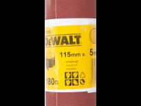 DeWalt DT3583 Schuurpapier rol - P180 - 5m - 115mm - DT3583-QZ