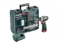 Metabo PowerMaxx BS Basic 10.8V Li-Ion accu boor-/schroefmachine set (1x 2.0Ah accu) + 73 delige accessoire set in koffer - 600079880