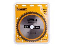 DeWalt DT1957 Extreme Cirkelzaagblad - 250 x 30 x 48T - Hout (Met nagels)