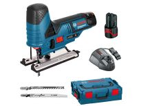 Bosch GST 10.8 V-LI 10.8V Li-Ion Accu decoupeerzaag set (2x 2.5Ah accu) in L-Boxx - T-greep - variabel - 06015A1003