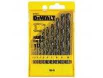 DeWalt DT5911 10 delige HSS-R Metaalborenset in cassette - DT5911-QZ