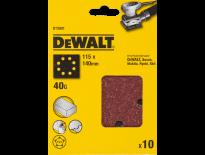 DeWalt DT3001 Vlak schuurvel - K40 - 115 x 140mm (10st) - DT3001-QZ