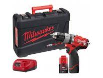 Milwaukee M12 CDD-202C 12V Li-Ion accu boor-/schroefmachine set (2x 2.0Ah accu) in koffer - koolborstelloos - 4933440390