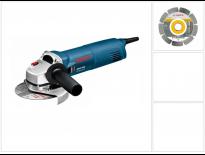 Bosch GWS 1000 Haakse slijper incl. diamantzaagblad in koffer - 1000W - 125mm - 0601821900