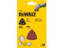 DeWalt DT3092 deltaschuurpapier - K80 - 93mm (10st) - DT3092-QZ