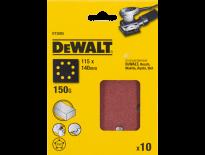 DeWalt DT3005 Vlak schuurvel - K150 - 115 x 140mm (10st) - DT3005-QZ