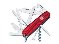 Victorinox 1.3713.T Huntsman zakmes - 15 delig - transparant rood
