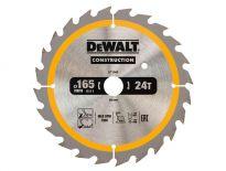DeWalt DT1949 Construction Cirkelzaagblad - 165 x 20 x 24T - Hout (Met nagels) - DT1949-QZ
