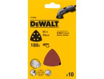 DeWalt DT3094 deltaschuurpapier - K180 - 93x93 (10st) - DT3094-QZ