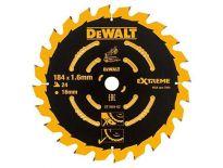 DeWalt DT1669 Extreme Cirkelzaagblad  - 184 x 16 x 24T - Hout - DT1669-QZ