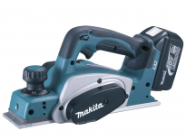 Makita DKP180RFJ 18V Li-Ion accu schaafmachine set (2x 3.0Ah accu) in Mbox - 82mm - 2mm