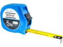 Wofix 7291620 BlueMax Rolmaat kunststof met gecoate stalen band - 3M - bandbreedte 16mm