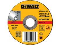 DeWalt DT42260 Doorslijpschijf recht voor Aluminium - 115x1.6mm (25st) - DT42260-XJ
