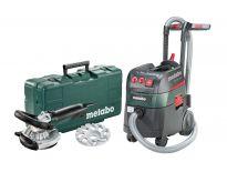 Metabo 690883000 Renovatieslijper (RS 14-125 Abrasief) & Alleszuiger / bouwstofzuiger (ASR 35 L ACP) combiset
