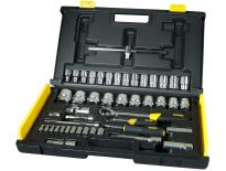"Stanley 1-94-659 65 delige MicroTough 1/4"" & 1/2"" Dopsleutelset in koffer"