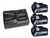 Hitachi Powerpack 1850.3 18V Li-Ion accu - 5,0Ah (3 x BSL1850 + oplader) - 714912