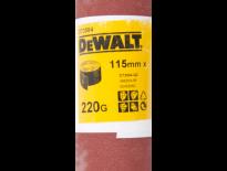 DeWalt DT3584 Schuurpapier rol - P220 - 5m - 115mm - DT3584-QZ